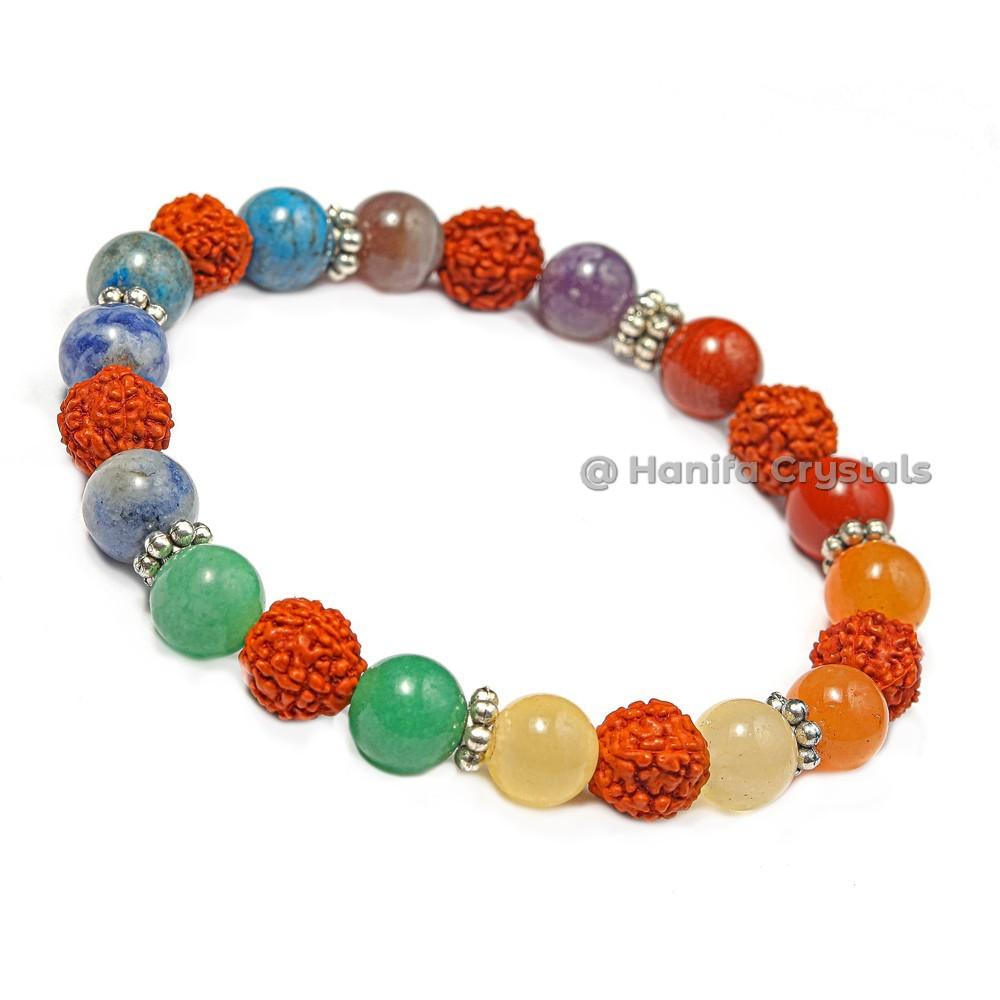 Rudraksaha 7 Chakra Bracelet