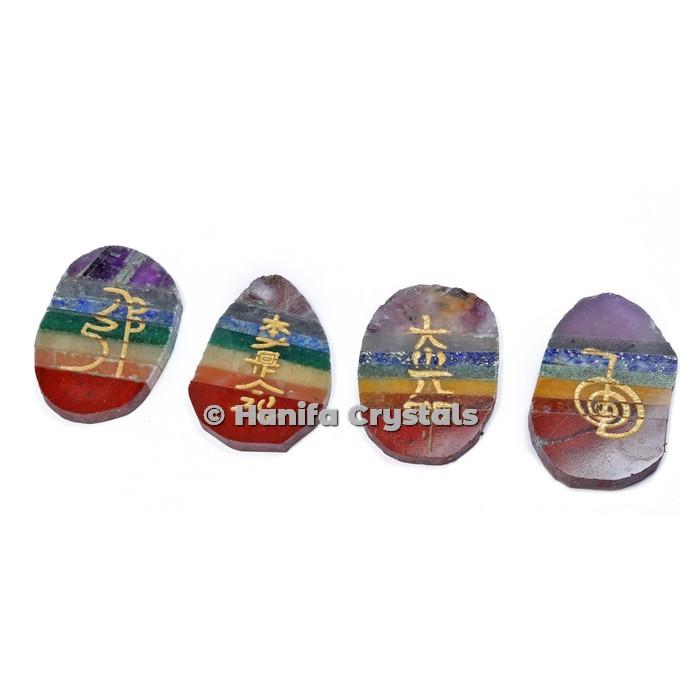 Seven Chakra Bonded Engraved Reiki Set