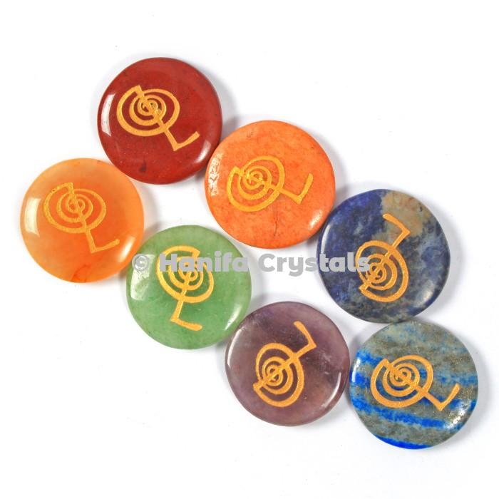 7 Chakra Choko Reiki Disc Set