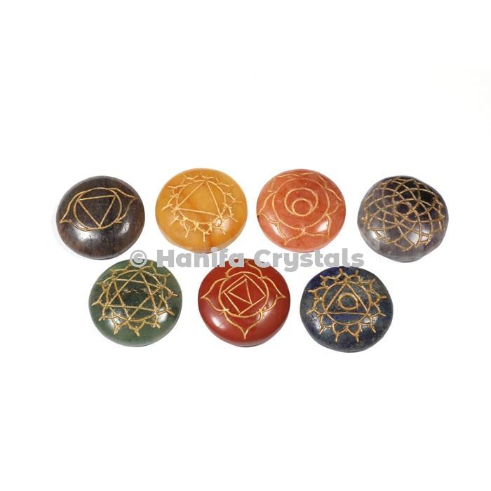 Engraved Chakra Small Disc Set