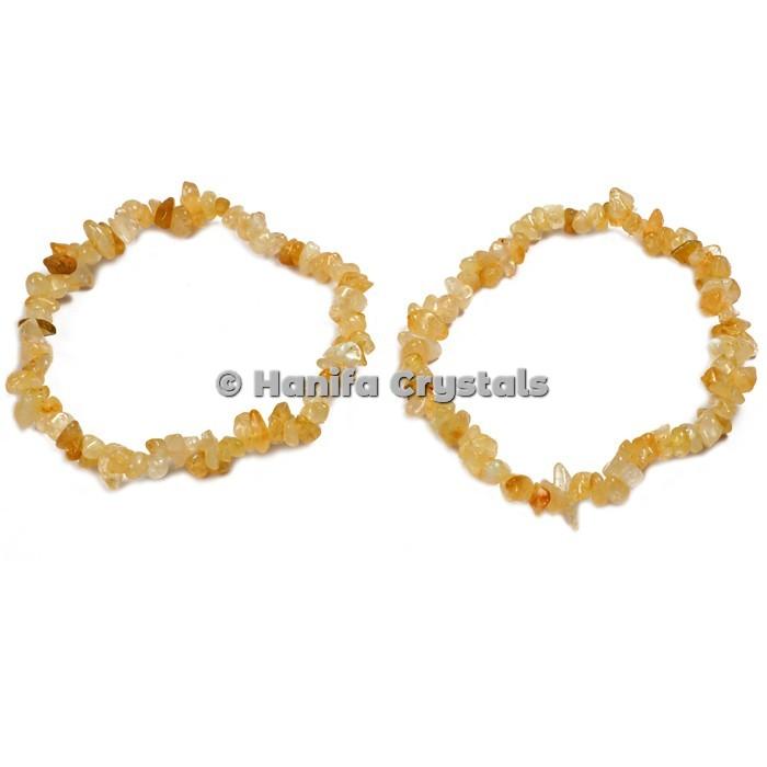Golden Quartz Chips Bracelet