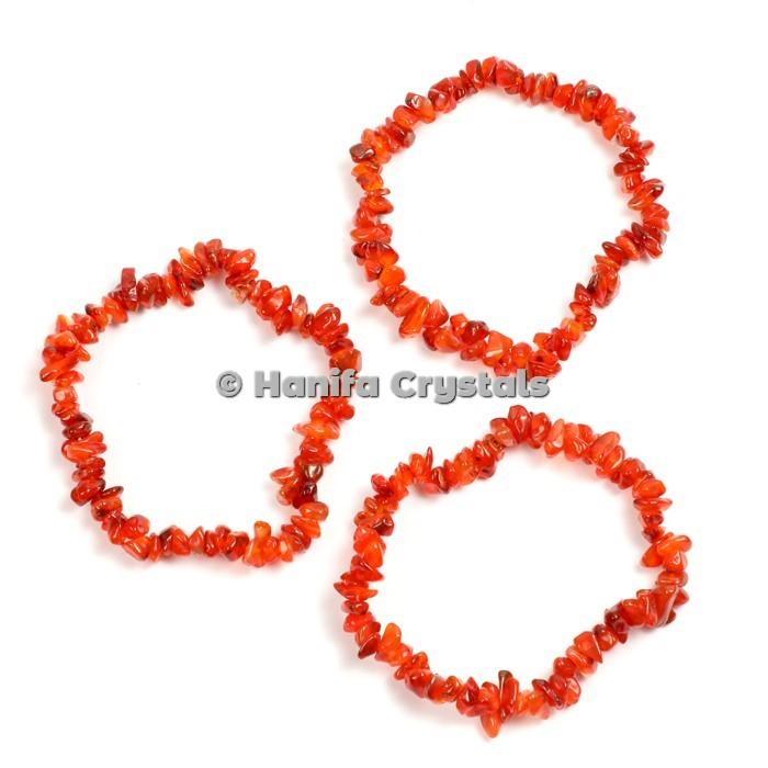 Carnelian Chips Bracelets