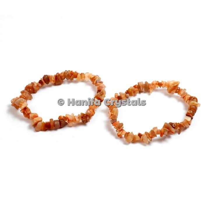 Red Carnelian Chips Bracelet