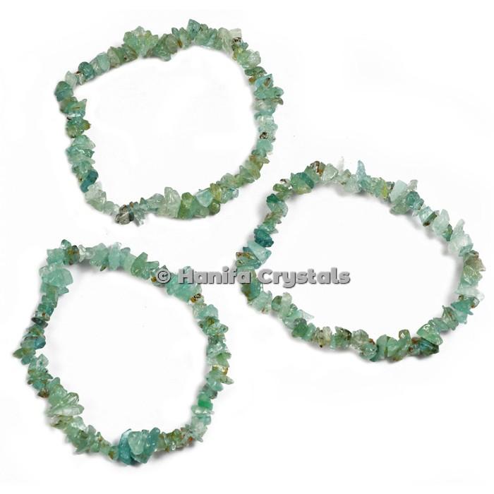Green Fluorite Chips Power Bracelet