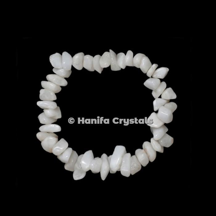 White Agate Chips Power Bracelet