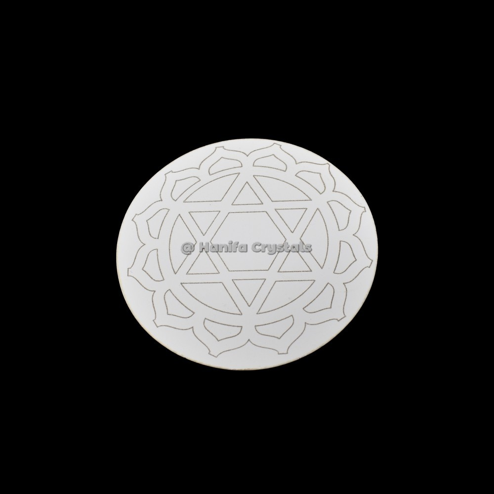 Heart Chakra MDF Coaster And Grid