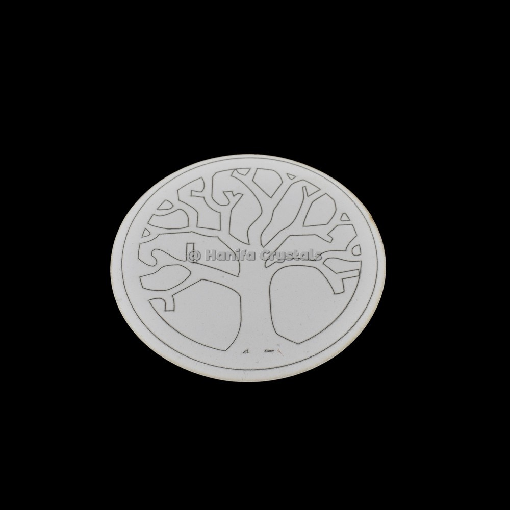 Tree Of Life Engraved Coaster And Grid