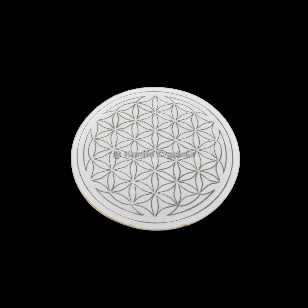 Flower of Life Engraved MDF Coaster And Grid
