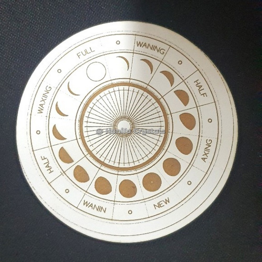 Moon Phase Engraved MDF Coaster And Grid