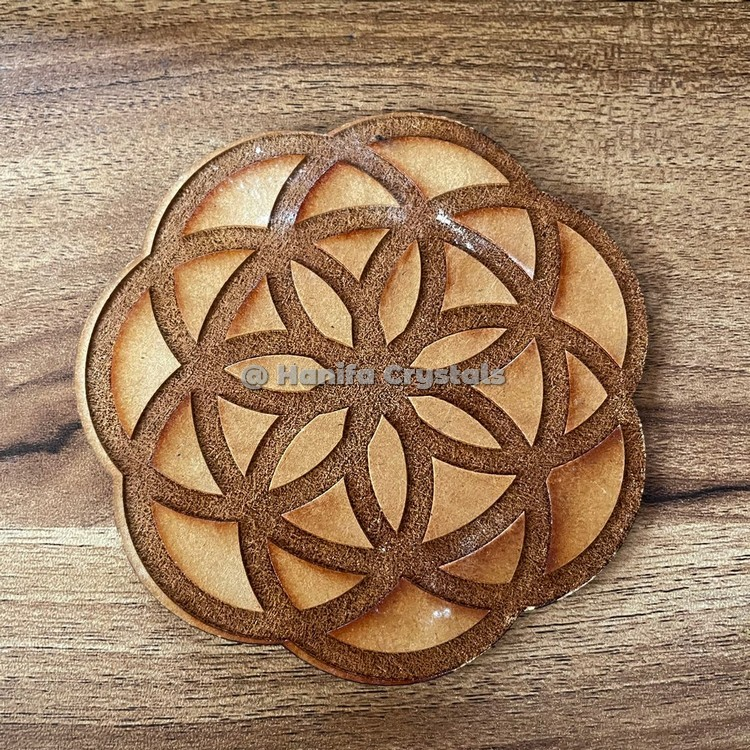 Seed Of Life Engraved Coaster And Grid