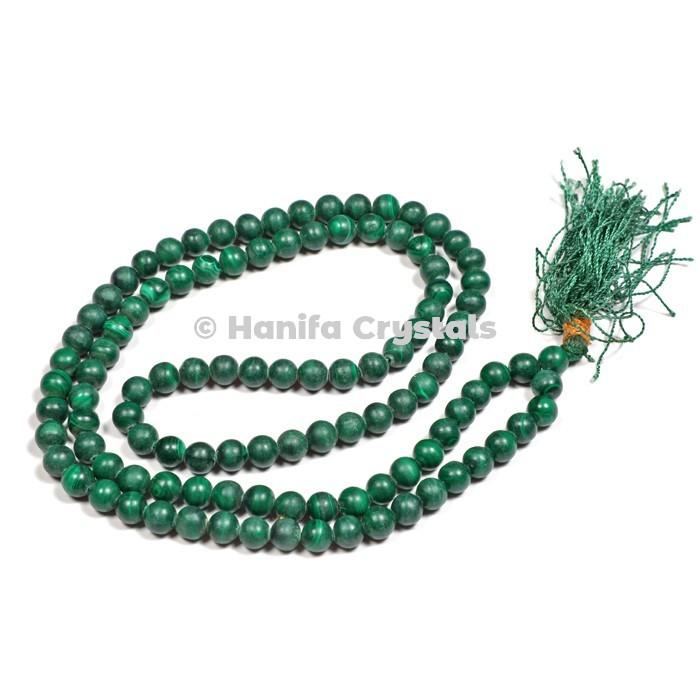Malachite 108 Beads Japa Mala