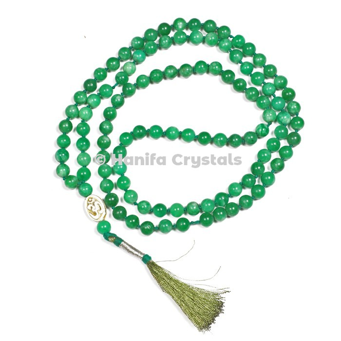 Green Aventurine 108 Beads Japa Mala