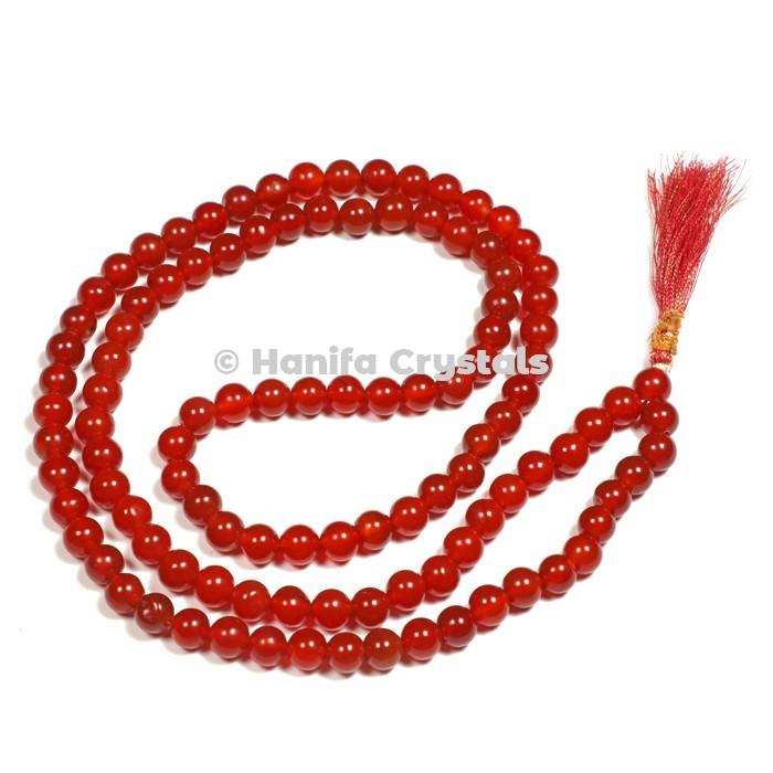 Red Onyx Japa Mala