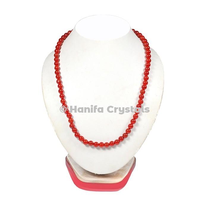 Carnelian Beads Necklace