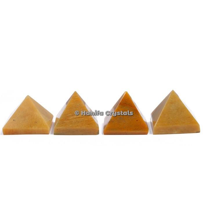 Yellow Jasper Gemstone Pyramids