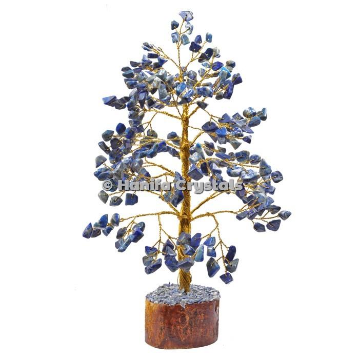 Lapis Lazuli  300 Chips Gemstone Golden Wire Tree