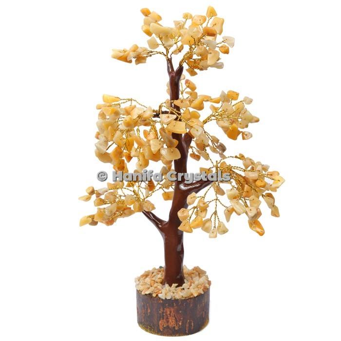 Golden Quartz Mseal 300 Chips Gemstone  Golden Wire Tree