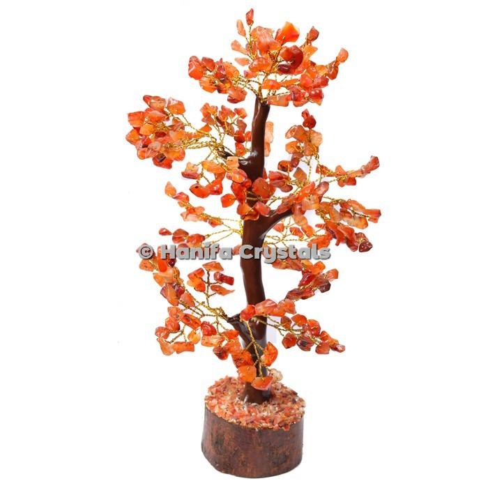 Carnelian Mseal 300 Chips Gemstone  Golden Wire Tree