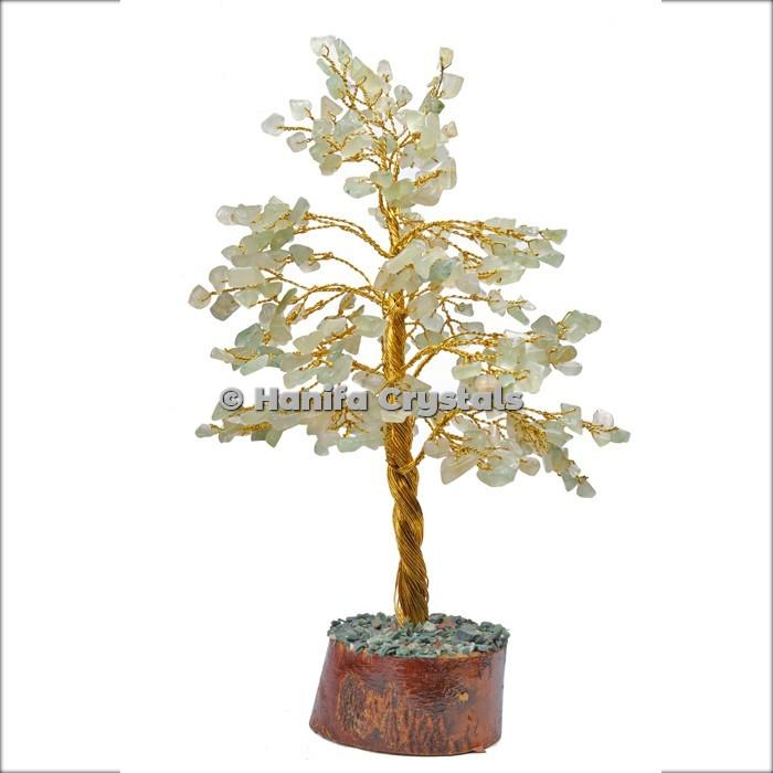Green Aventurine 300 Chips Gemstone Golden Wire Tree