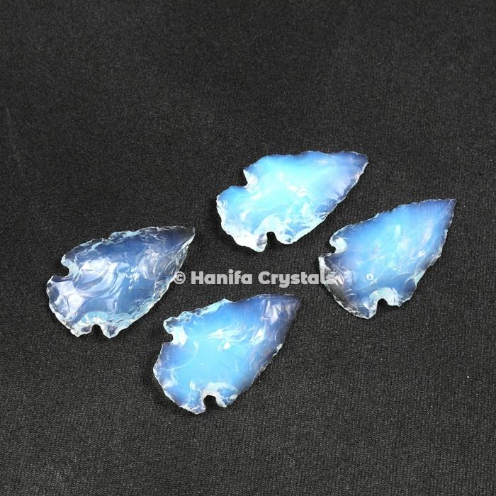 Opalite Glass Indian Arrowheads