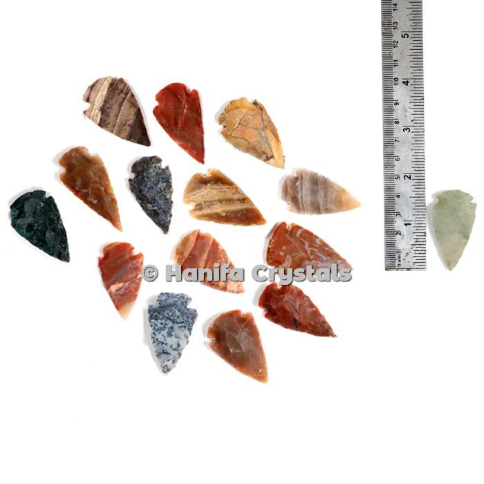 Agate Indian Arrowheads 1.50 Inch