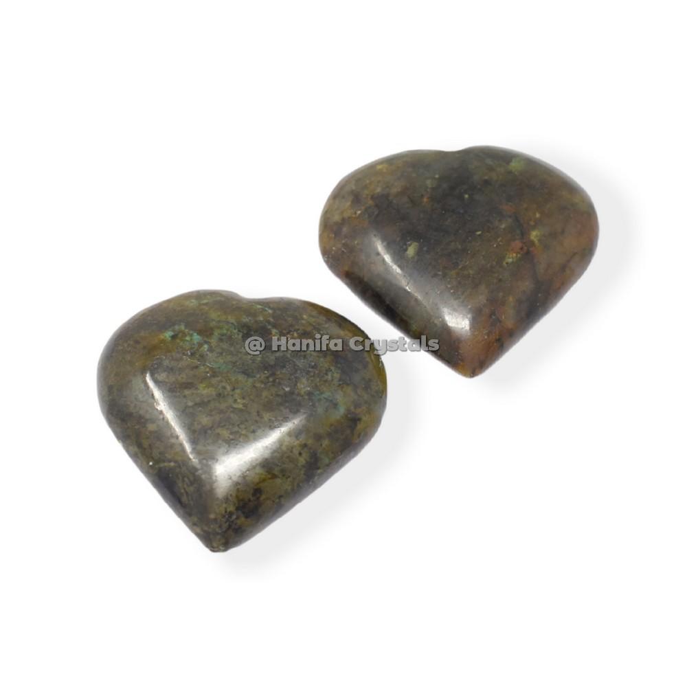 Labradorite Puffy Hearts