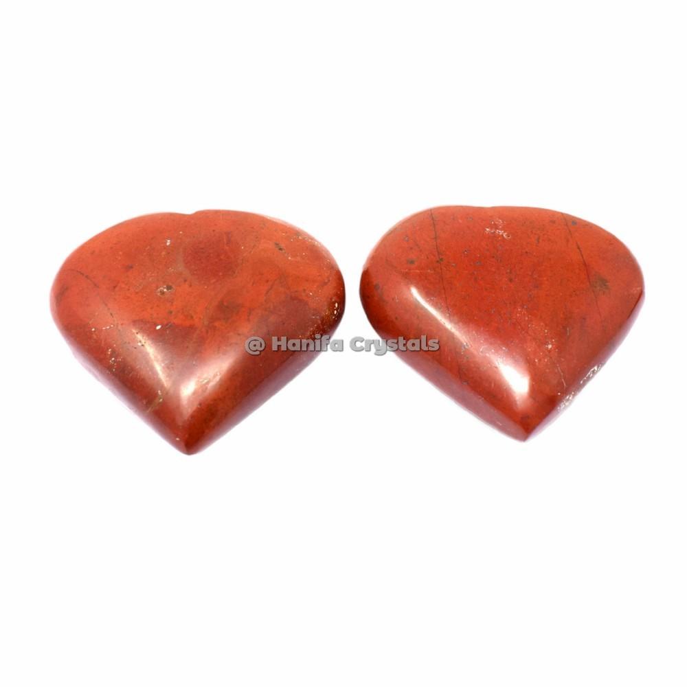 Red Jasper Puffy Hearts