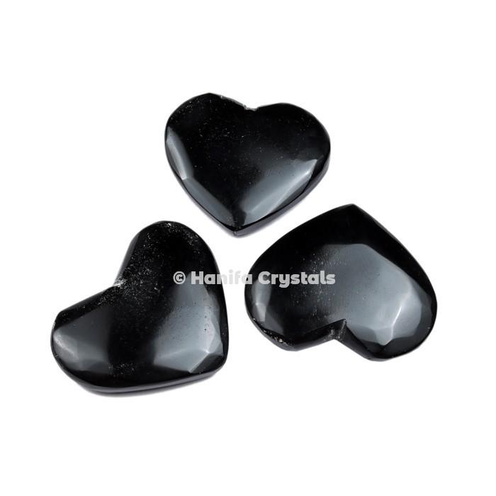 Black Obsidian Puffy Hearts