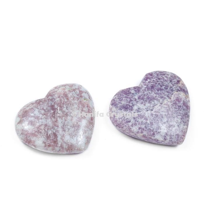 Lepidolite Puffy Hearts
