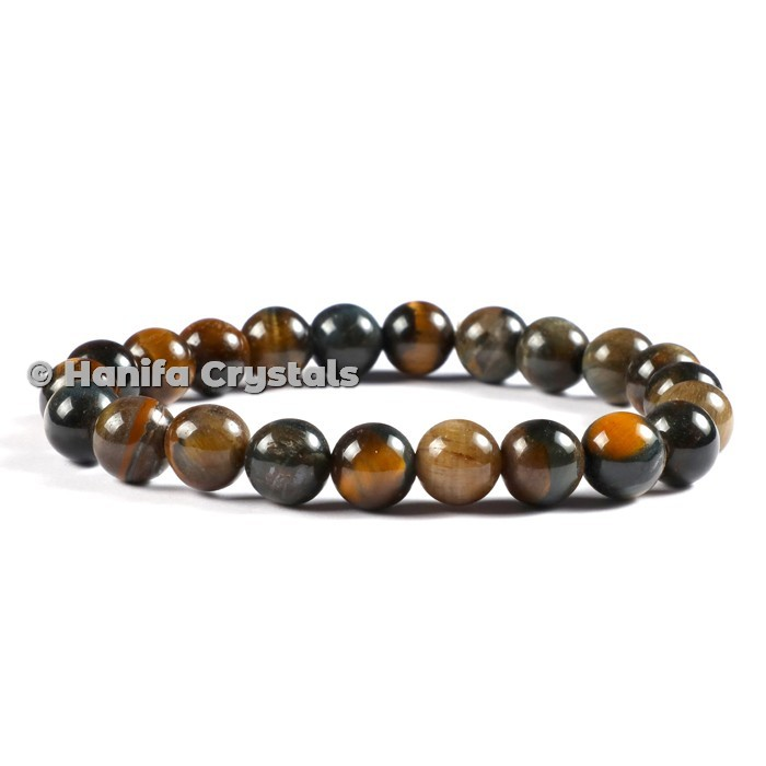 Tiger Eye Round Beads Bracelet