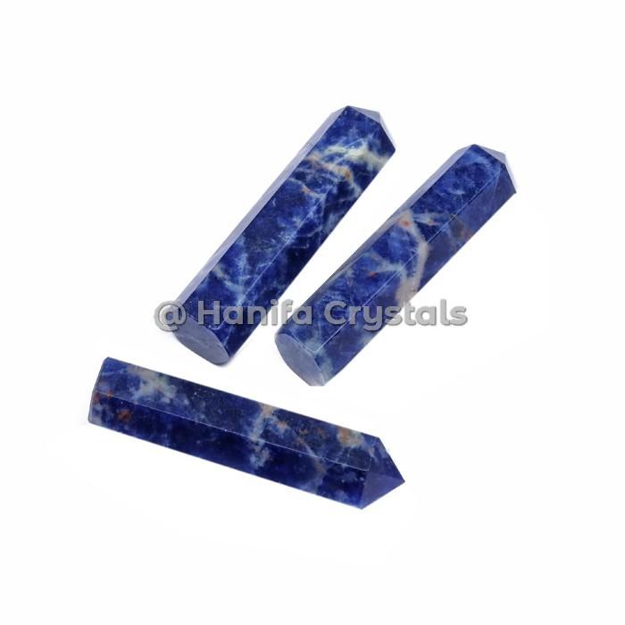 Sodalite Natural Crystal Pencil Points
