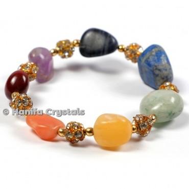 7 Chakra Tumbled Bracelet
