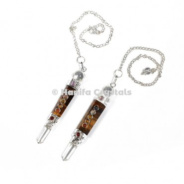 Tiger Eye Chakra 3pcs Pendulums