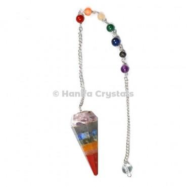Chakra Bonded pendulums with chakra chain