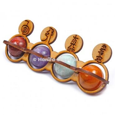 Round Ball Seven Chakra Reiki Set