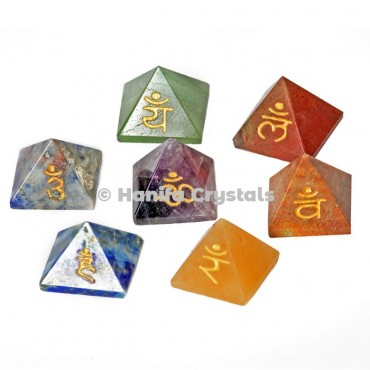 7 Chakra Pyramid Sanskrit Set