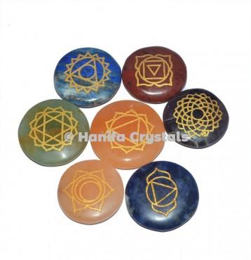 Engraved Seven Chakra Disc Set