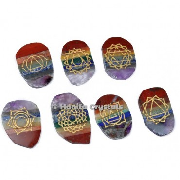 Seven Chakra Bonded Engraved Set