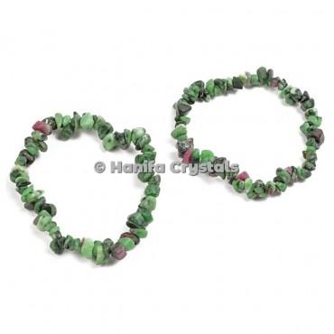 Ruby Zeosite Chips Bracelet