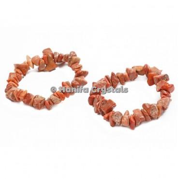 Red Jasper Chips Bracelet