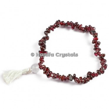 Garnet Chips Power Bracelet
