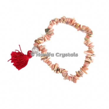Rhodochrosite Chips Power Bracelet