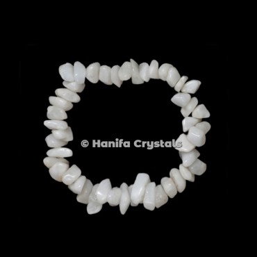 White Agate Chips Power Bracelet