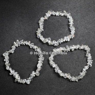 Crystal Quartz Chips Power Bracelet