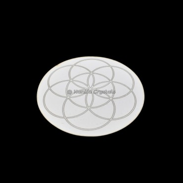 Seed Of Life Engraved MDF Coaster And Grid