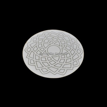 Crown Chakra Engraved MDF Coaster And Grid