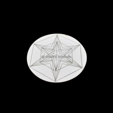 Accent Pentagram MDF Coaster And Gird