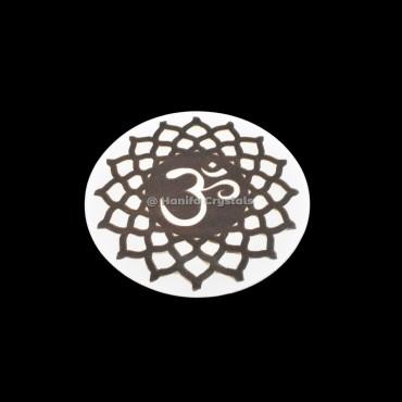 Sahasrara Chakra Engraved MDF Coaster And Grid