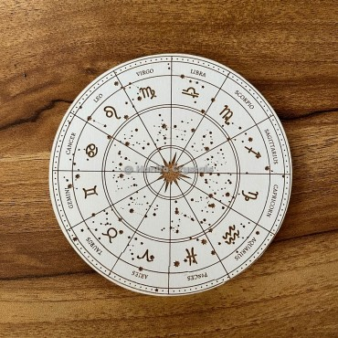 Zodiac Signs Engraved MDF Coaster And Grid