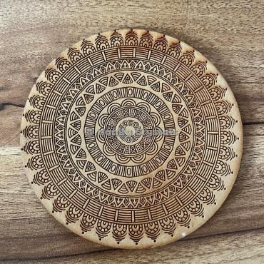Round Mandala MDF Coaster And Grid